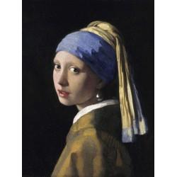 Ragazza con Orecchino di Perla-Jan Vermeer.Stampa Fine Art d'Autore Personalizzata del Celebre Ritratto