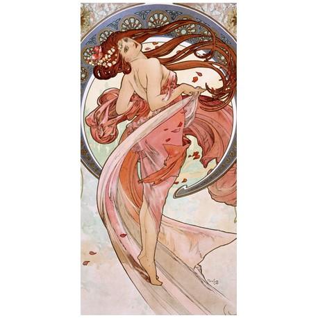 """Mucha""""La Danza""""-Quadro Classico d'Autore con Stampa Fine Art"""