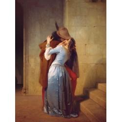 """""""Il Bacio""""Francesco Hayez.Quadro o Stampa Fine Art su Canvas o Altro,Grande o Piccola"""