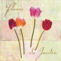 """Dellal Remy """"Fleurs du Jardin""""- Quadro con Rose Bianche Romantiche - Stampa d'Autore su Tela Cotone per Soggiorno o altro"""