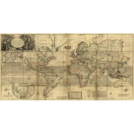 Cartina Mondo Ingrandita.Mappa Del Mondo Di Herman Moll Stampa Antica Fine Art On Demand Stampeequadri