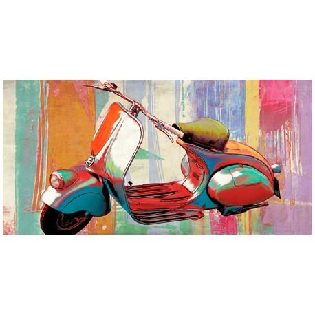 """""""Hommage""""Teo Rizzardi.Quadro Moderno con Scooter,possibilità di Grande Formato"""