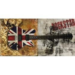 """""""Rockstar""""Steven Hill.Quadro Moderno con Chitarra Rock,possibilità di Grande Formato"""