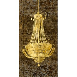 """Chandelier Panneau""Remi Dellal.Big Printed picture with Vertical Chandelier"