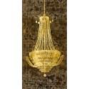 """""""Chandelier Panneau 1""""Remi Dellal.Quadro Moderno Verticale Stile Baroque, Grande Formato"""