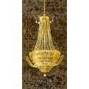 """""""Chandelier Panneau""""Remi Dellal.Big Printed picture with Vertical Chandelier"""