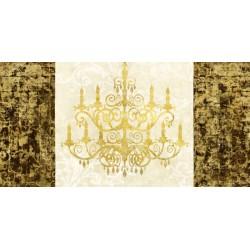 """""""Chandelier Royale""""Remi Dellal.Quadro Moderno in Stile White Baroque, possibilità di Grande Formato"""