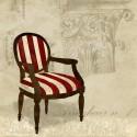 Dellal-Armchair n.1,Quadro Moderno di Design con Ambientazione Shabby Chic per Soggiorno o altro