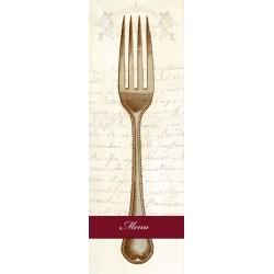 Remy Dellal-Menu,Quadro Famoso Verticale di Design con Forchetta, per Sala Pranzo o Cucina