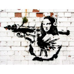 Banksy (attributed to) -Soho,London, Stampa Street Art d'Autore su Supporti Vari e con Misure Diverse