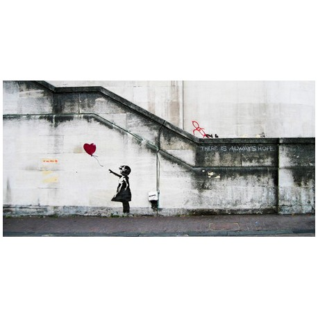 Banksy (attributed to)-South Bank,London.Stampa d'Autore Street Art su Canvas o Carta