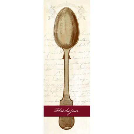 Remy Dellal-Plat du Jour,Quadro Famoso Verticale di Design con Cucchiaio, per Sala da Pranzo o Cucina