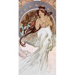 """Mucha""""La Musica""""-Quadro Classico d'Autore con Stampa Fine Art Originale"""
