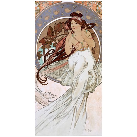 "Mucha""Music""-Classical Author's Fine Art Picture for Home Decor"