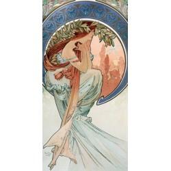 """Mucha""""La Poesia""""-Quadro Classico d'Autore Originale con Stampa Fine Art"""