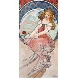 """Mucha""""La Pittura""""/Le 4 Muse-Stampa d'Autore Originale Fine Art Alta Risoluzione"""