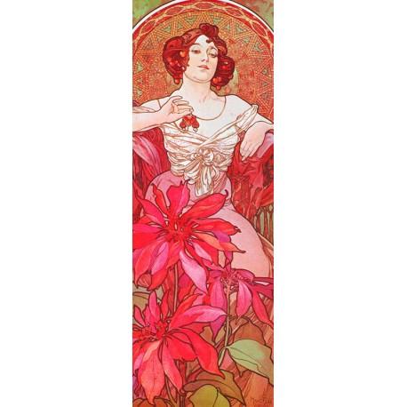 Mucha-Ruby. Poster,Canvas o Quadro Pronto. Riproduzione Originale per Soggiorno o Scala