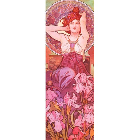 Mucha-Amethyst.Classical Author's Fine Art Picture for Home Decor.Wide set of customizations, available
