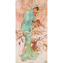 """Mucha""""Hiver""""-Classical Author's Fine Art Picture for Home Decor"""
