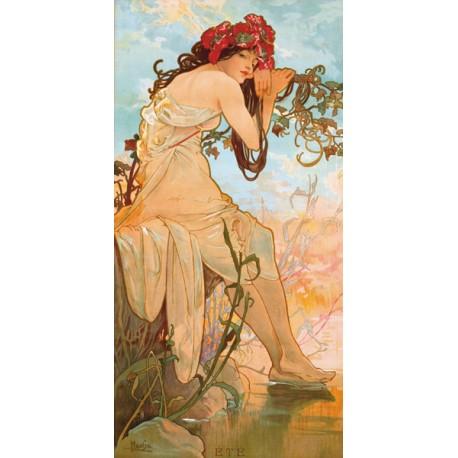 "Mucha""Etè""-Classical Author's Fine Art Picture for Home Decor"