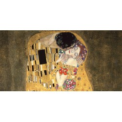 Gustav Klimt-Il Bacio. Stampa Fine Art su Canvas ad alta risoluzione in Misure Multiple per Soggiorno o Camera