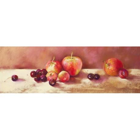 Nel Whatmore-Cherries an Apples quadro con mele e ciliege