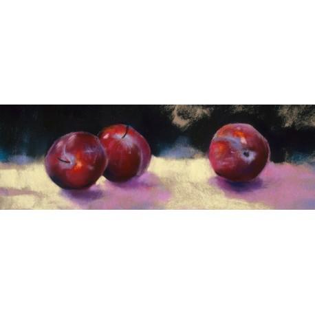 Nel Whatmore-Prugne quadro con mele e ciliege