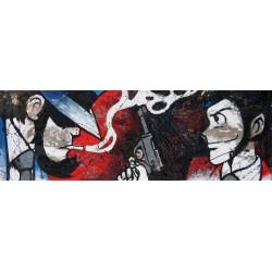 Jigen e Lupin-Best friends - Lupin III Dipinto su Juta