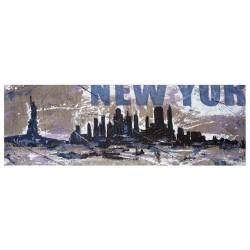 New York-Levorato - quadri moderni fatti a mano su Juta Grezza, Copia Unica