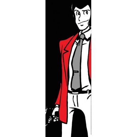 Lupin III-Monkey Punch - Stampa verticale Ritoccata a Mano Originale