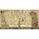 Gustav Klimt-L'albero della vita. Stampa Fine Art su Canvas ad alta risoluzione in Misure Multiple per Soggiorno o Camera