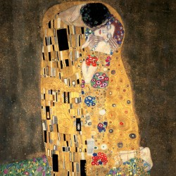 Gustav Klimt - Il Bacio Stampa Fine Art su Canvas Misure Multiple per Soggiorno o Camera