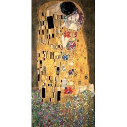 Gustav Klimt-Il Bacio (verticale). Stampa Fine Art su Canvas ad alta risoluzione in Misure Multiple per Soggiorno o Camera