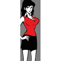 Fujiko-Lupin III - Stampa verticale Ritoccata a Mano Originale