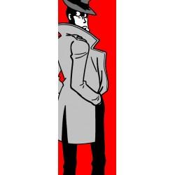 Zenigata-Lupin III - Stampa verticale Ritoccata a Mano Monkey Punch Originale