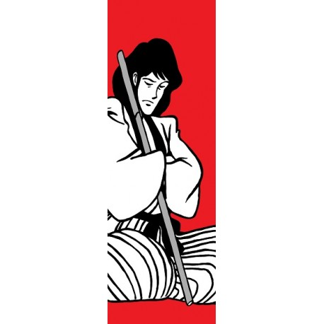 Goemon-Lupin III - Stampa verticale Ritoccata a Mano Monkey Punch Originale