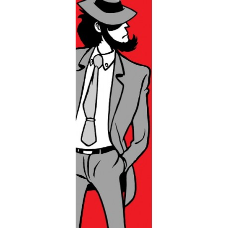 Jigen-Lupin III - Stampa verticale Ritoccata a Mano Monkey Punch Originale