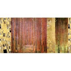 Gustav Klimt- Forest II Stampa Fine Art su Canvas ad alta risoluzione in Misure Multiple per Soggiorno o Camera