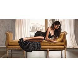Beautè Parisienne, Pierre Benson - Quadro Moderno Fashion con Donna stesa per Soggiorno o Camera