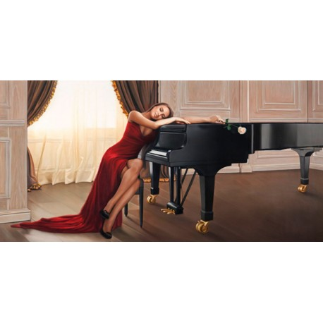 Sweet Reverie, Pierre Benson - Quadro Moderno Fashion con Donna stesa per Soggiorno o Camera