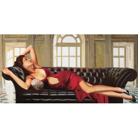 Divine, Pierre Benson - high quality artistic print with reclined woman for Living or Bedroom