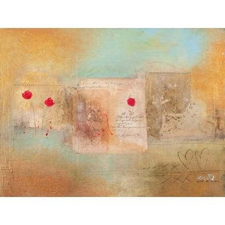 """Charaka Simoncelli """"Roses for you"""",Quadro Pronto con Stampa D'Autore per Soggiorno, Ufficio o altro"""