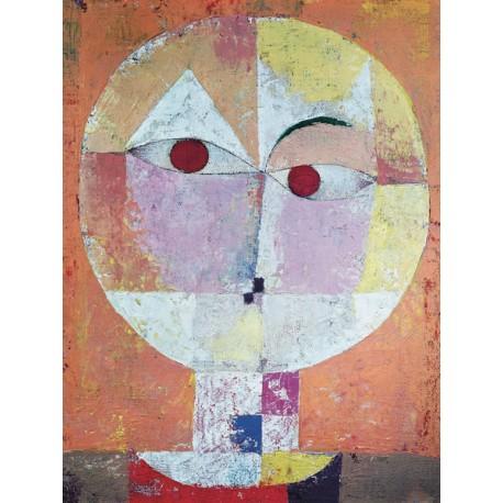 """Klee """"Senecio"""", Quadro Verticale con Stampa Originale Fine Art per Soggiorno, Ufficio o altro"""