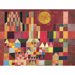 "Klee ""Il Castello e il Sole"" Ready-to-hang picture in 100% cotton Canvas or Large variety of size and material."