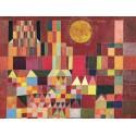 """Klee """"Il Castello e il Sole"""", Quadro con Stampa Originale Fine Art per Soggiorno, Ufficio o altro"""