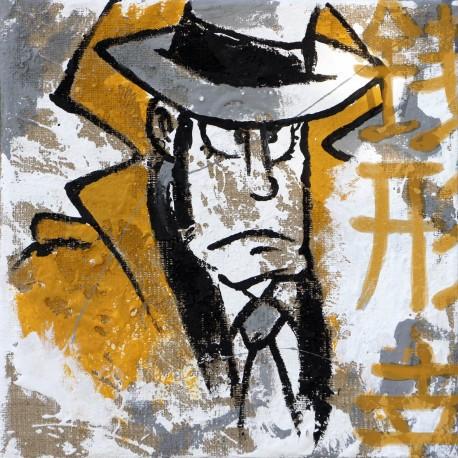 Zenigata - Lupin III Handpainted on Juta - Lupin the third