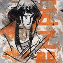Gaemon Serie Lupin III Dipinto a mano su Juta grezza