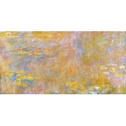Claude Monet-Waterlilies. Stampa ad Alta Risoluzione delle Classiche Ninfee su Tela Canvas e possibilità di Ritocco Materico