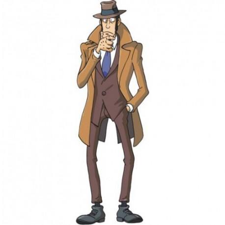 Zenigata, Sagoma a figura intera del famoso Personaggio della Serie Televisiva Lupin III