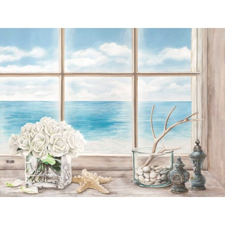"Dellal ""Memories of the Ocean"", Desiderable Fine Art Picture with Landscape view from Window"